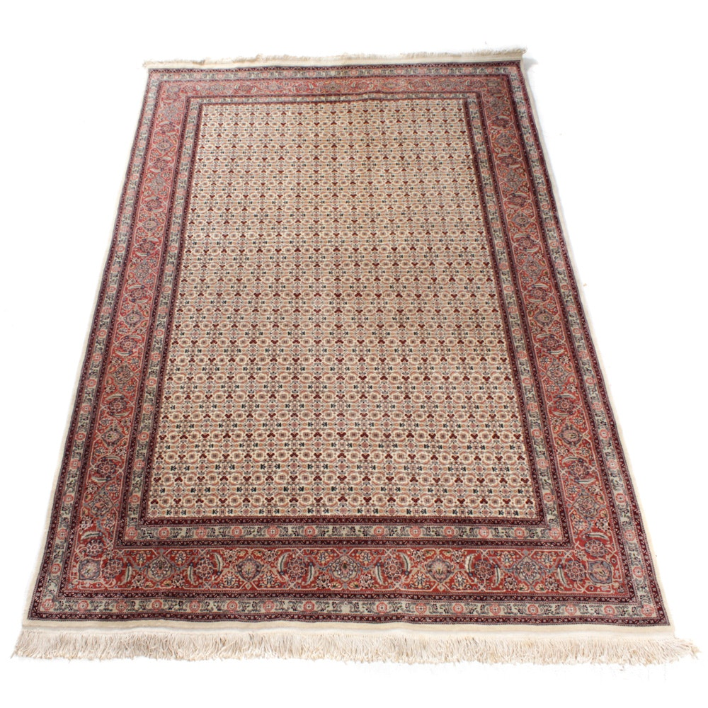 Hand-Knotted Persian Birjand Rug