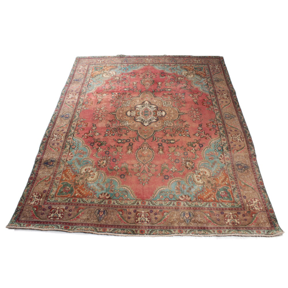 Antique Persian Haji Jalili Tabriz Room Size Rug