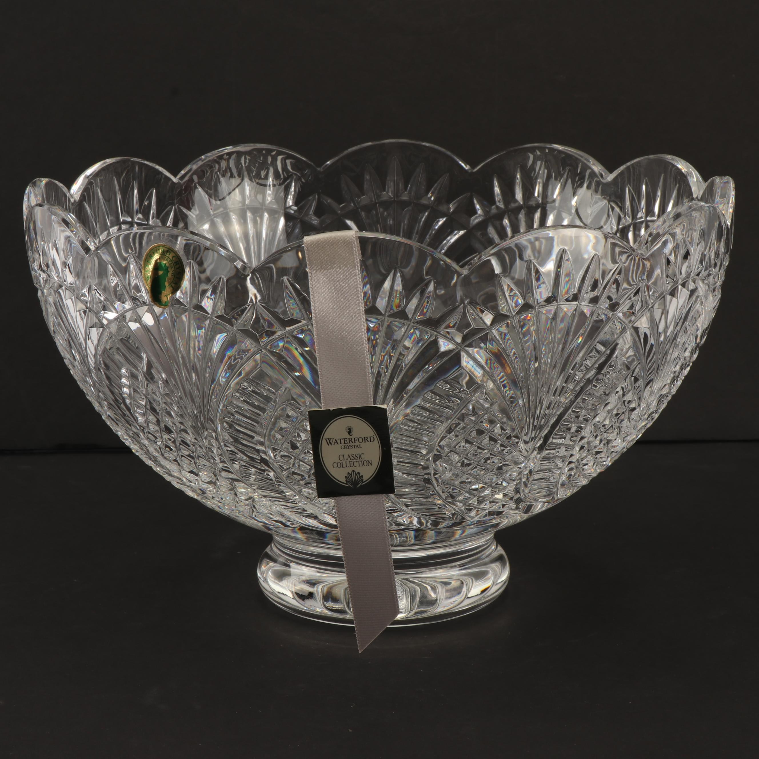 """Waterford Crystal """"Seahorse"""" Footed Bowl"""