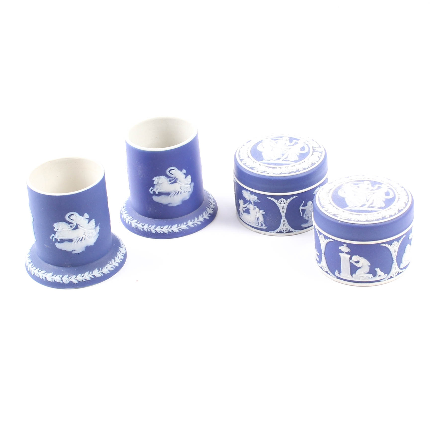 Wedgwood Jasperware Trinket Boxes and Candle Holders