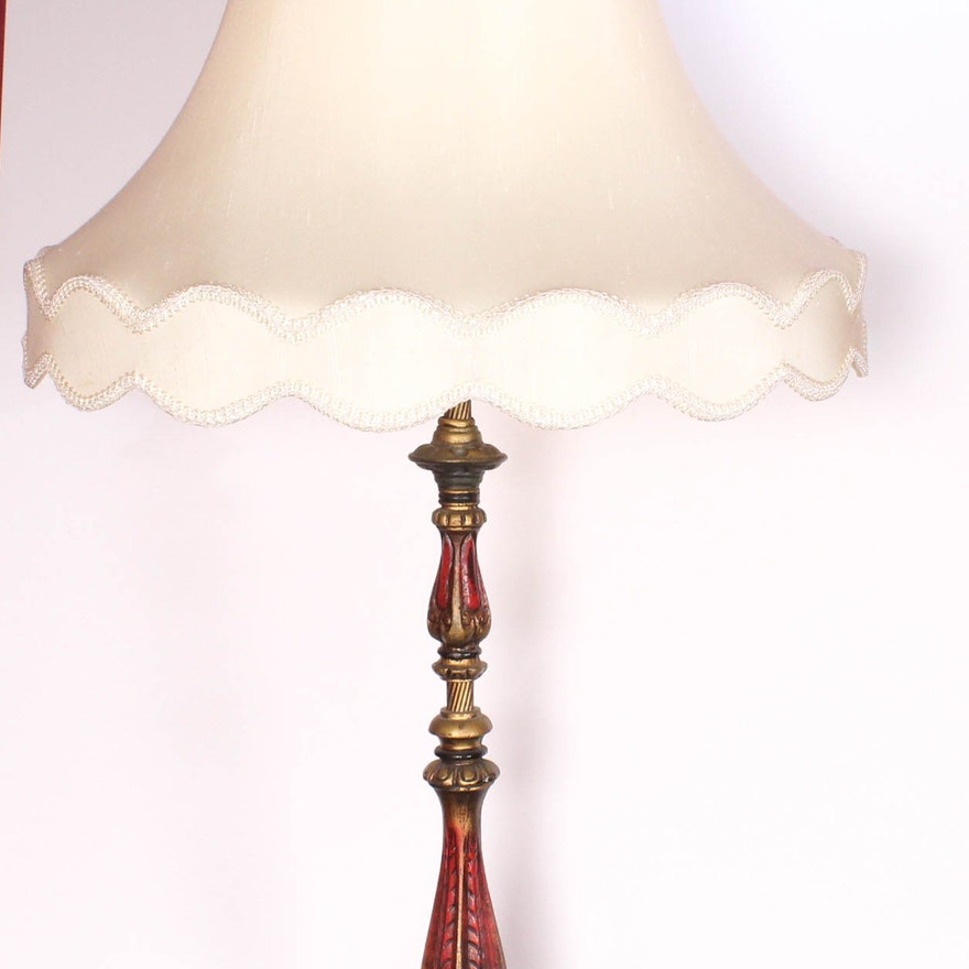 Antique Brass And Marble Table Lamp Ebth