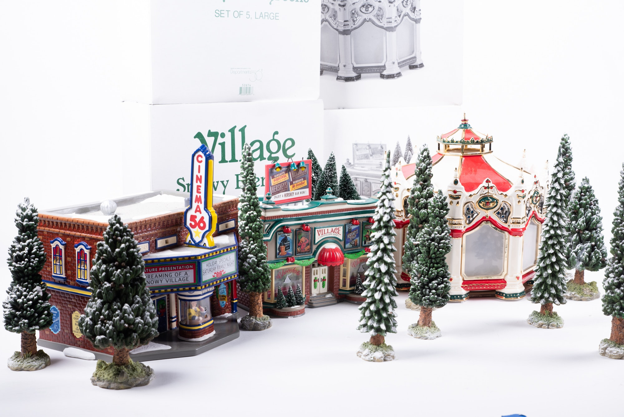 "Department 56 ""The Original Snow Village"" Hand-Painted Ceramic Buildings"