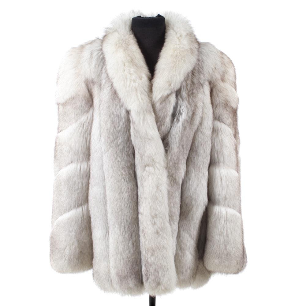 Chloé Blue Fox Fur Coat