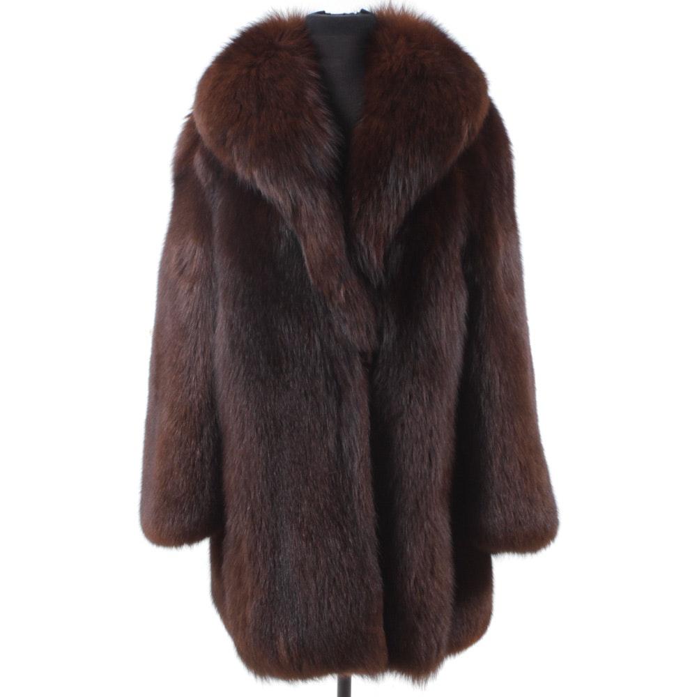 Full Skin Mahogany Fox Fur Stroller