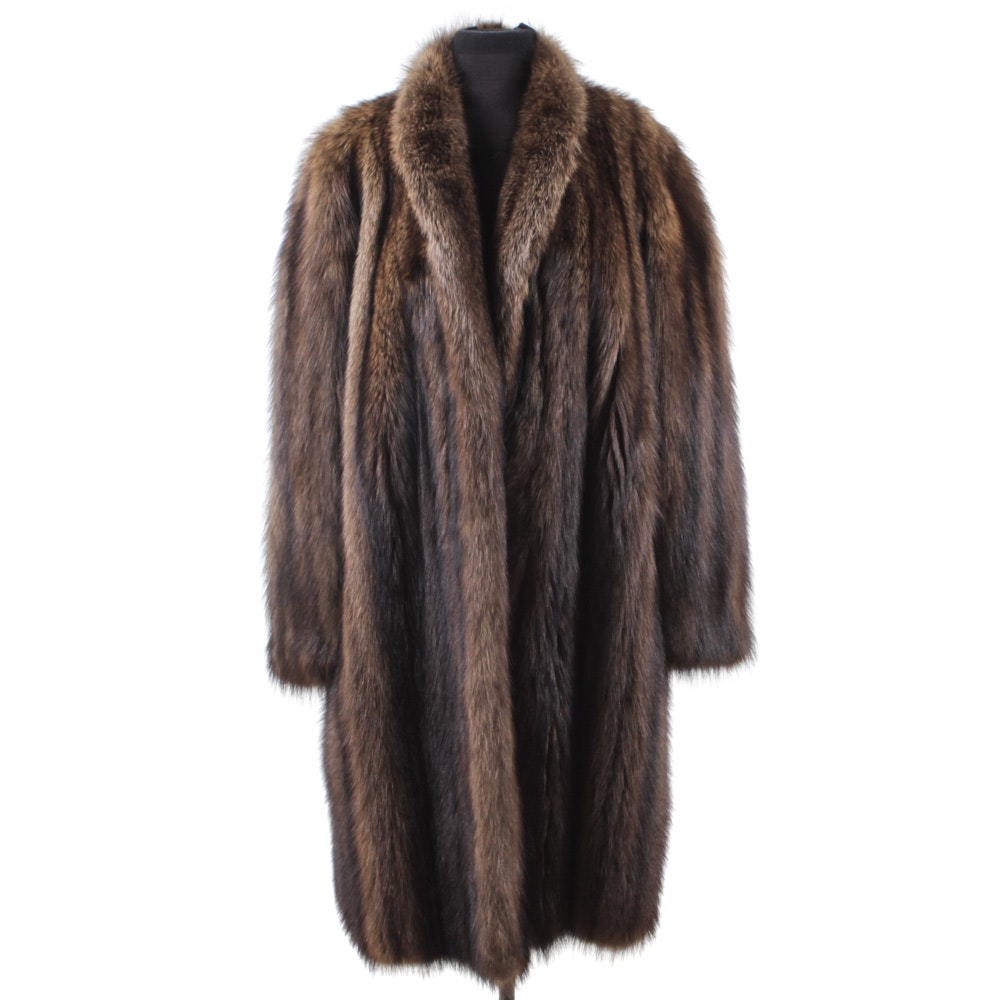 Valentino Couture Furs Full-Length Fisher Sable Coat