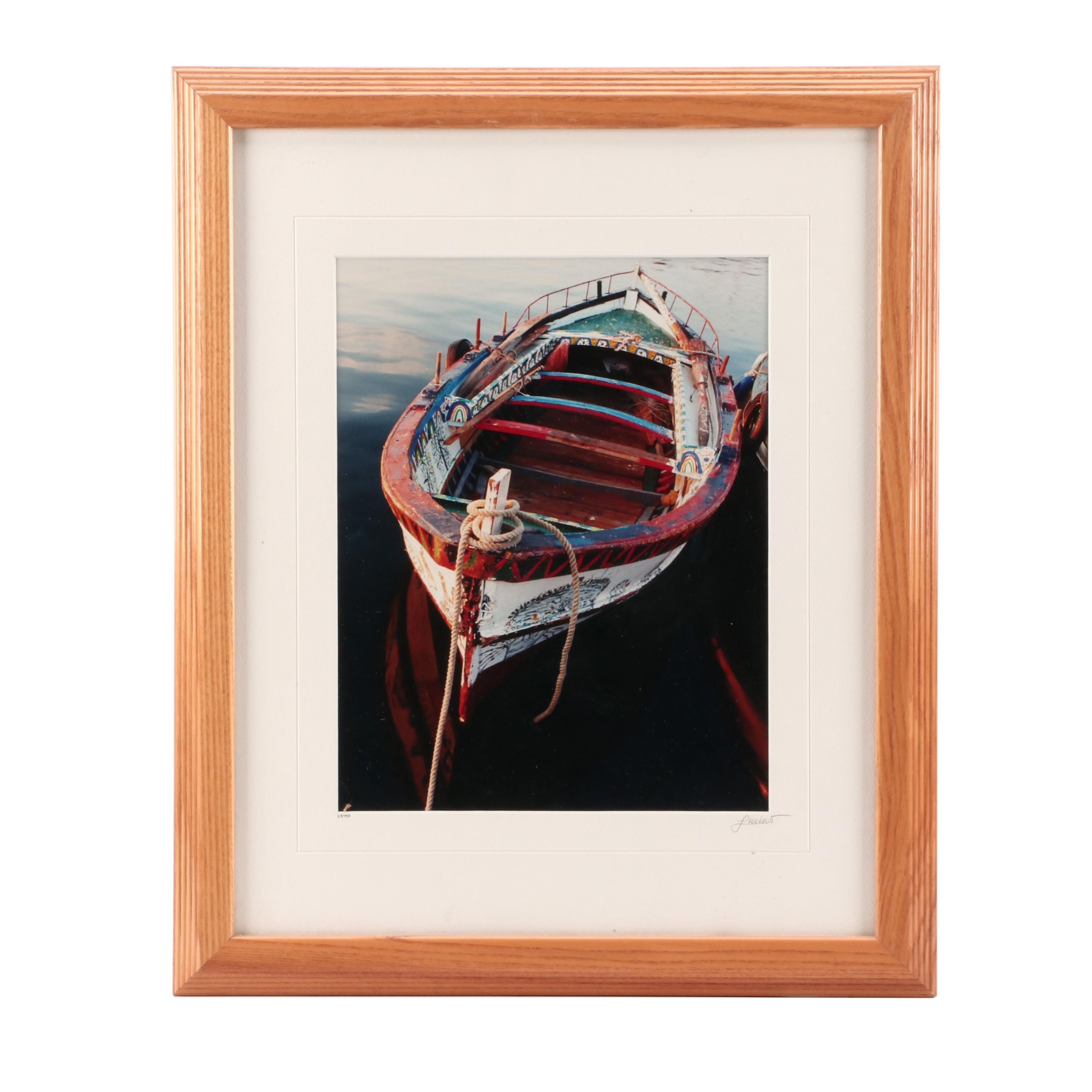 Limited Edition Chromogenic Color Photograph of Painted Boat