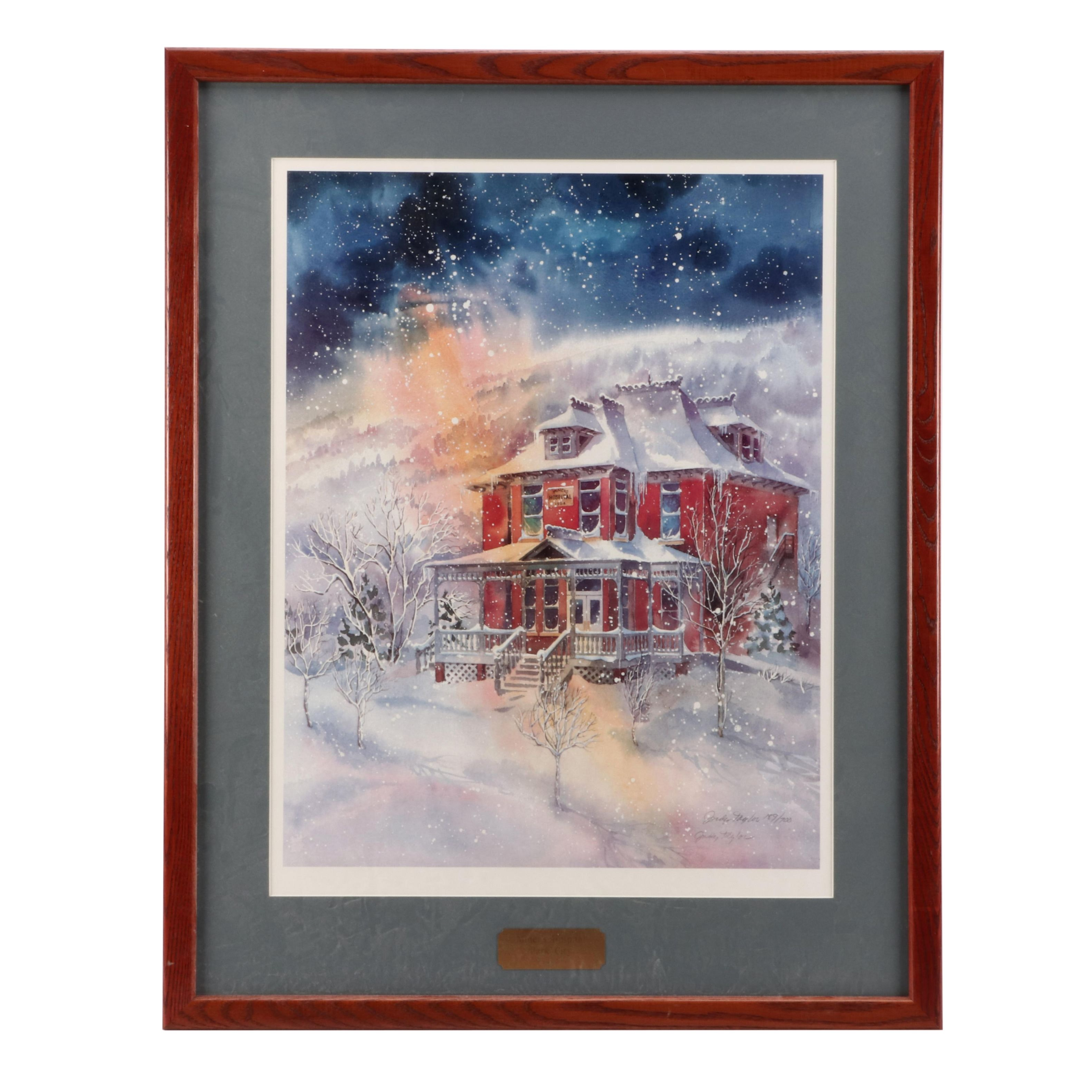 """Judy Taylor Limited Edition Offset Lithograph """"Miner's Hospital / Park City"""""""