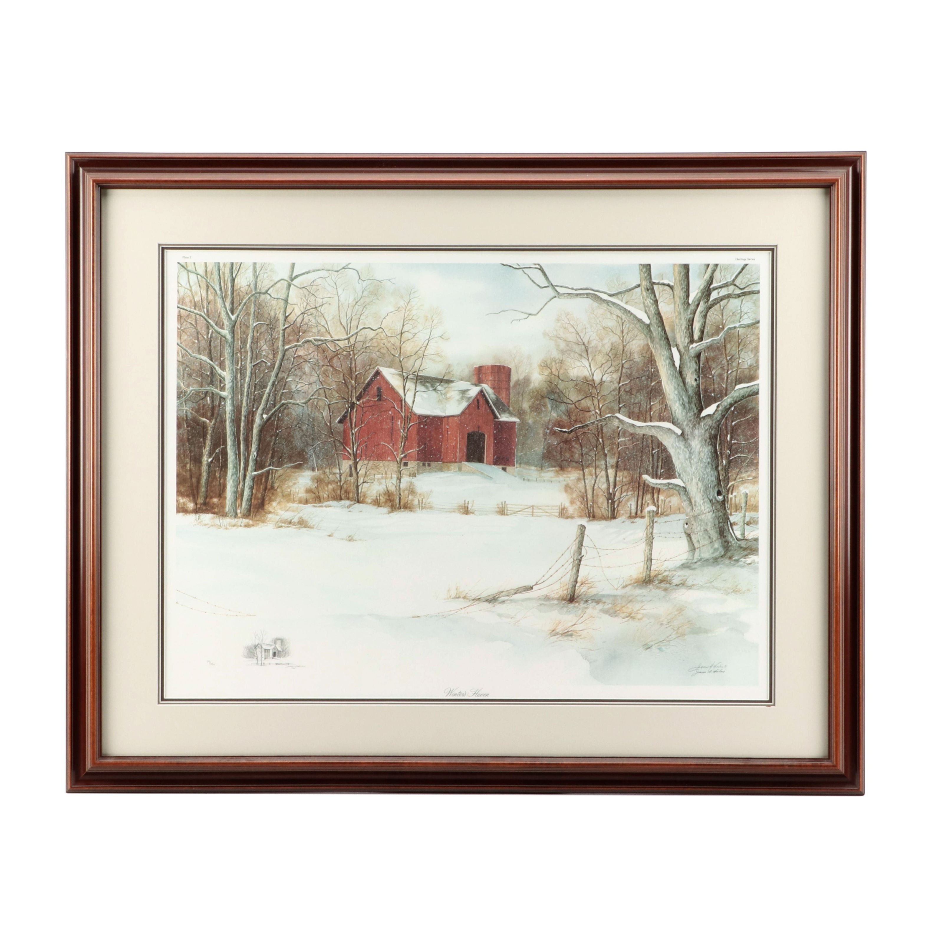 James D. Werline 1989 Limited Edition Offset Lithograph with Graphite Remarque