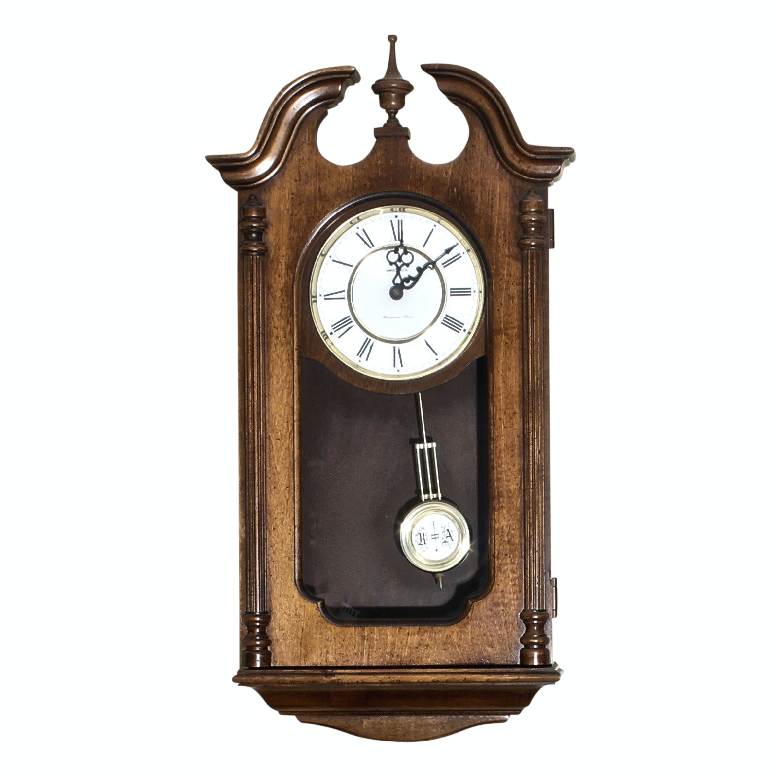 Vintage Howard Miller Westminster Chime Wall Clock Ebth