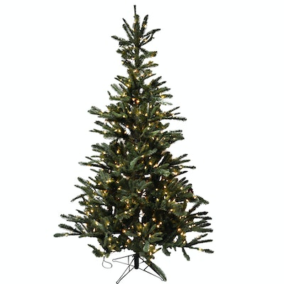 7' Illuminated Artificial Pine Christmas Tree