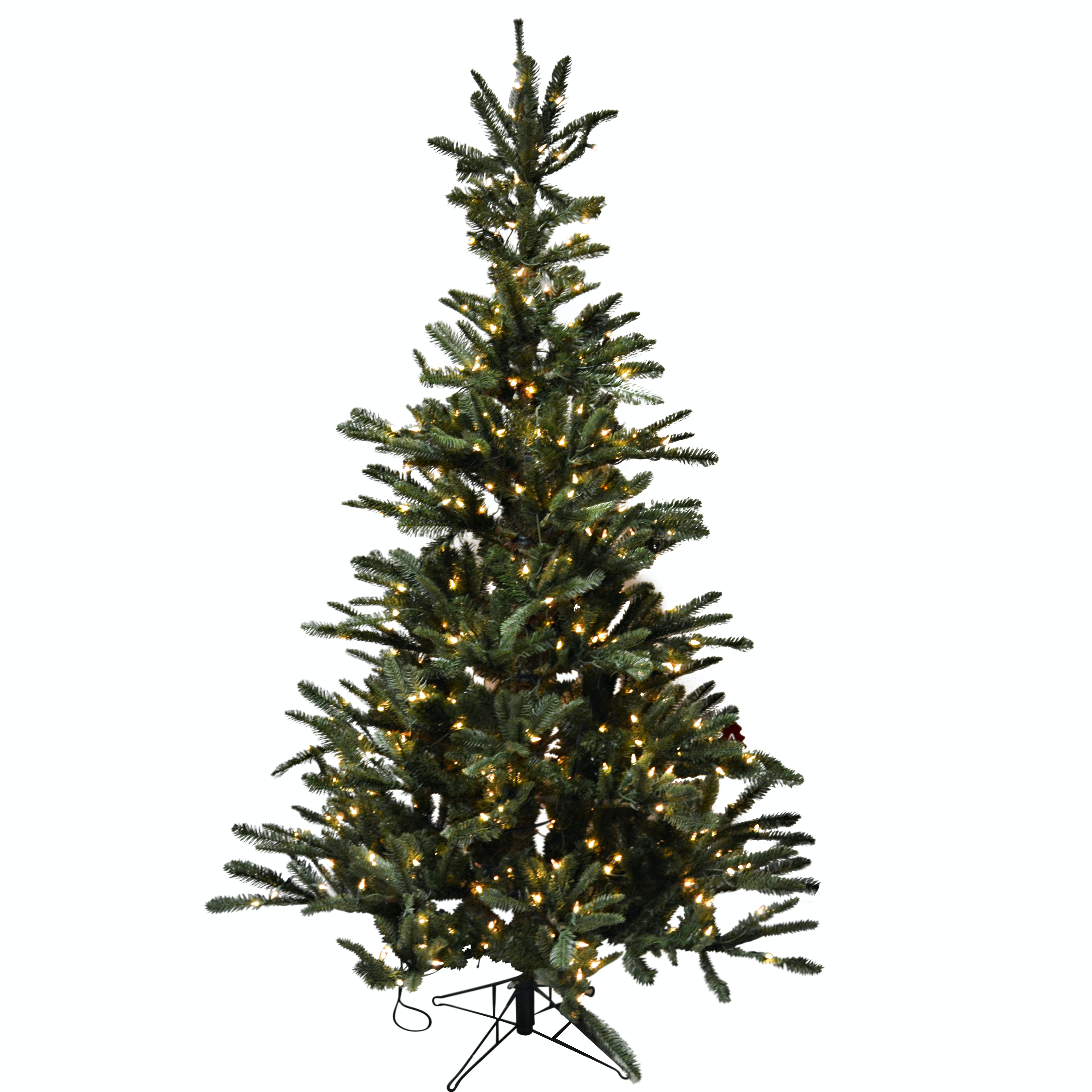 7' Illuminated Artificial Pine Christmas Tree and TreeKeeper Upright Storage Bag