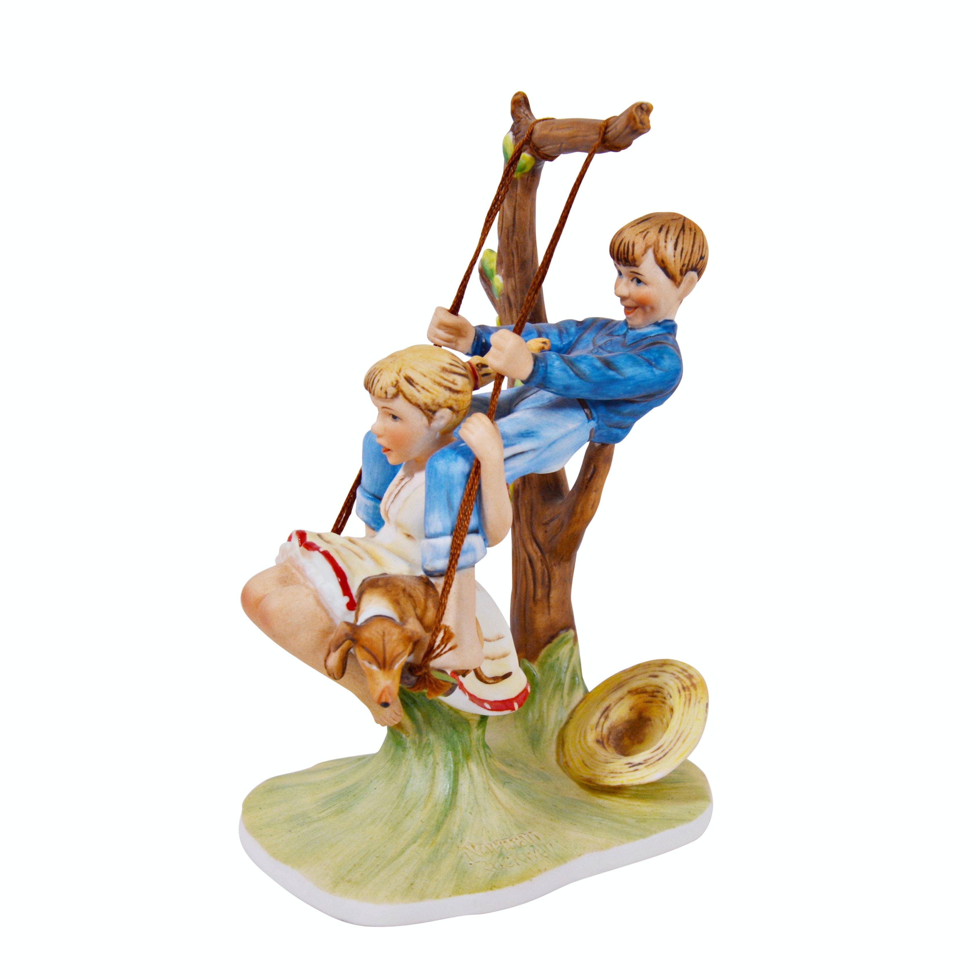 "Norman Rockwell ""Summer-Flying High"" Porcelain Figurine"