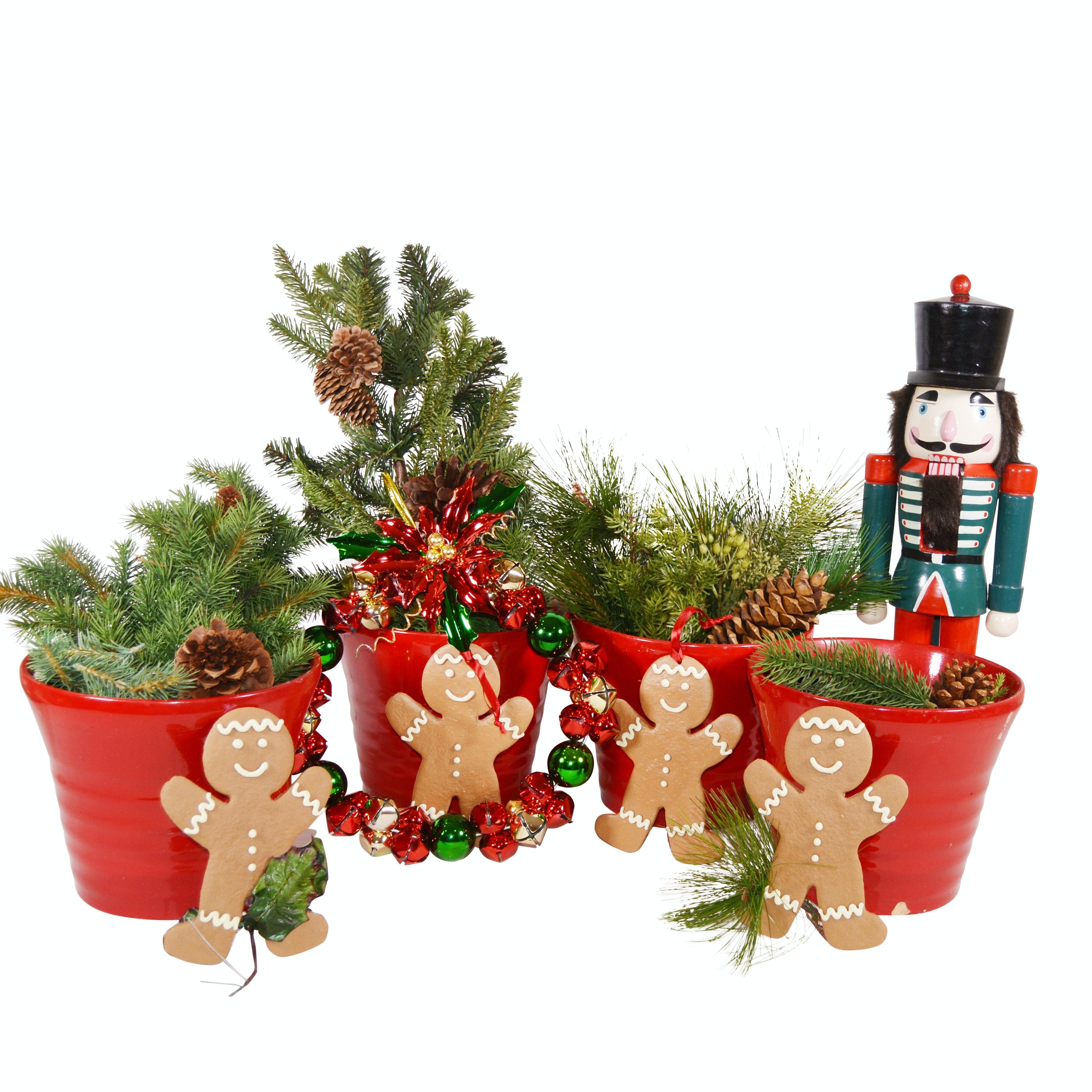 Ceramic Planters and Holiday Decor