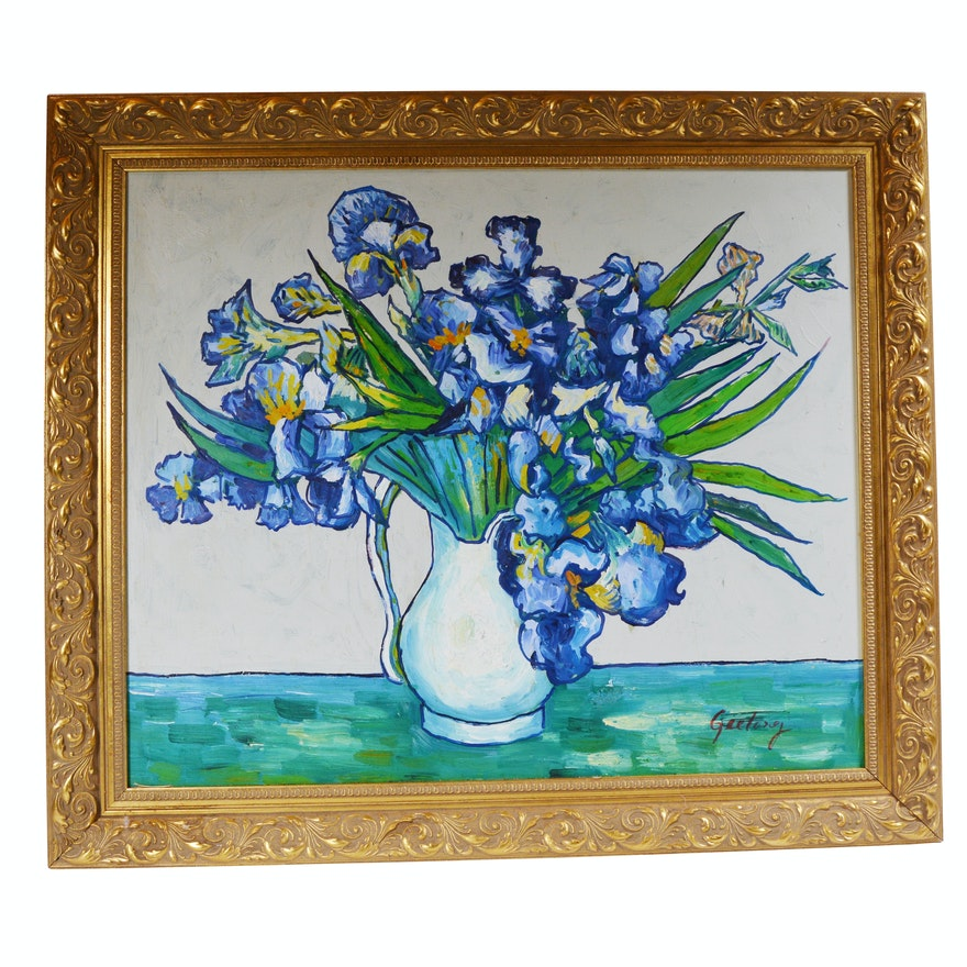 Geelong Oil Painting Of Floral Still Life Ebth