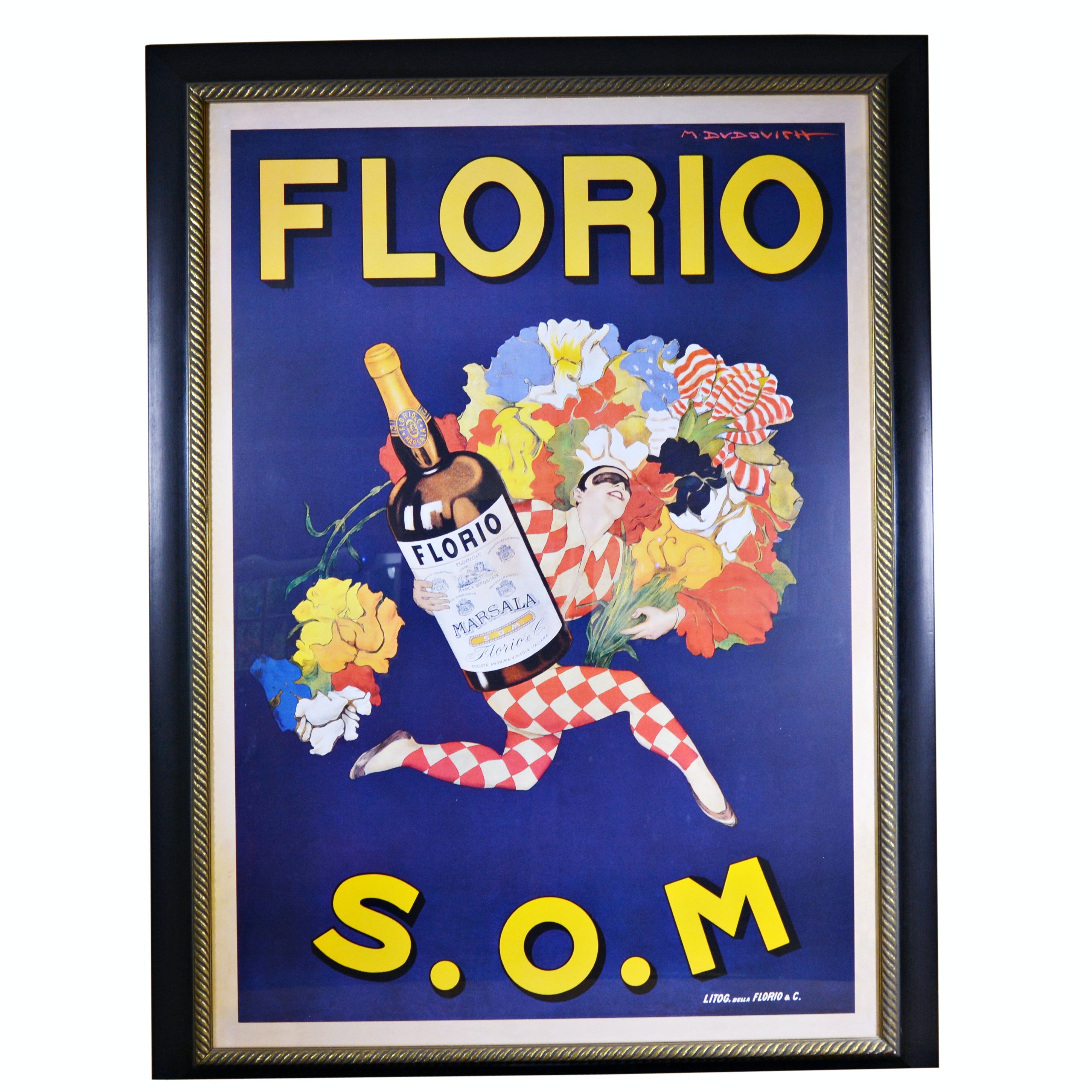 Florio S.O.M. Marsala Wine Advertising Poster
