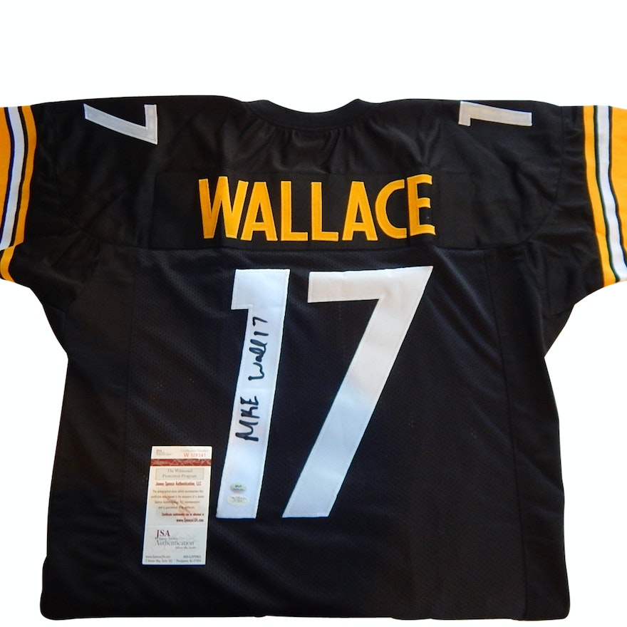 Pittsburgh Steelers Mike Wallace  17 Signed Football Jersey   EBTH 8e8c0f7d7