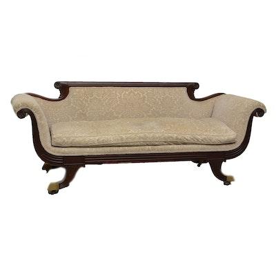 Classical Mahogany Sofa, Circa 1830