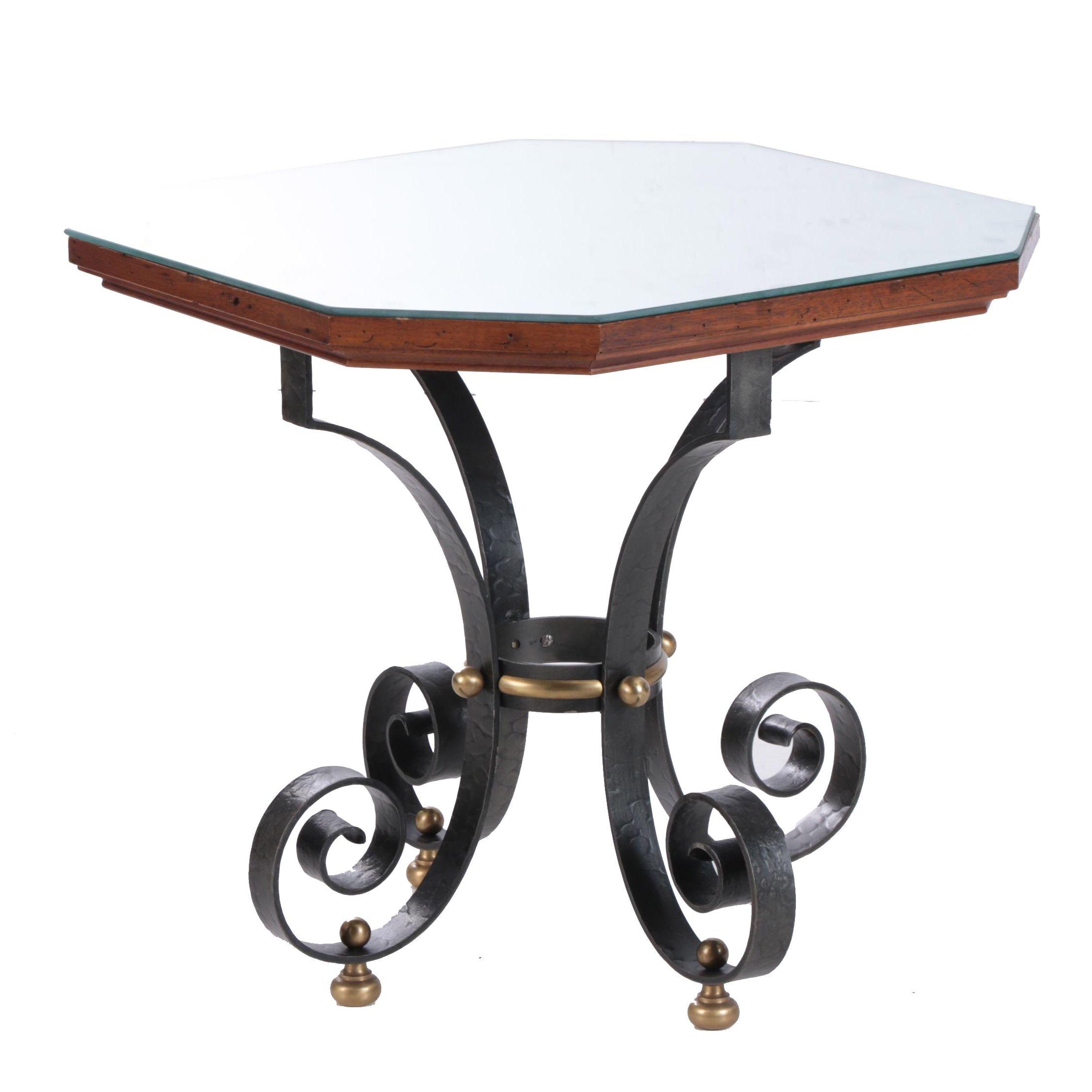 "Spanish Revival ""Barcelona"" Walnut Accent Table by Morganton, Mid 20th Century"