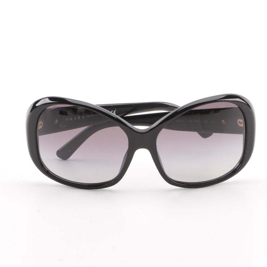 e9f1d5628f1 Prada SPR 03M Black Butterfly Sunglasses   EBTH