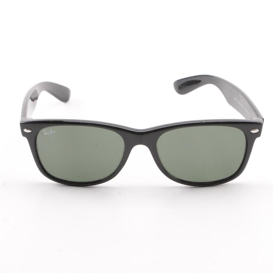 c7b8b8101f Ray-Ban RB 2132 New Wayfarer Black Framed Sunglasses   EBTH