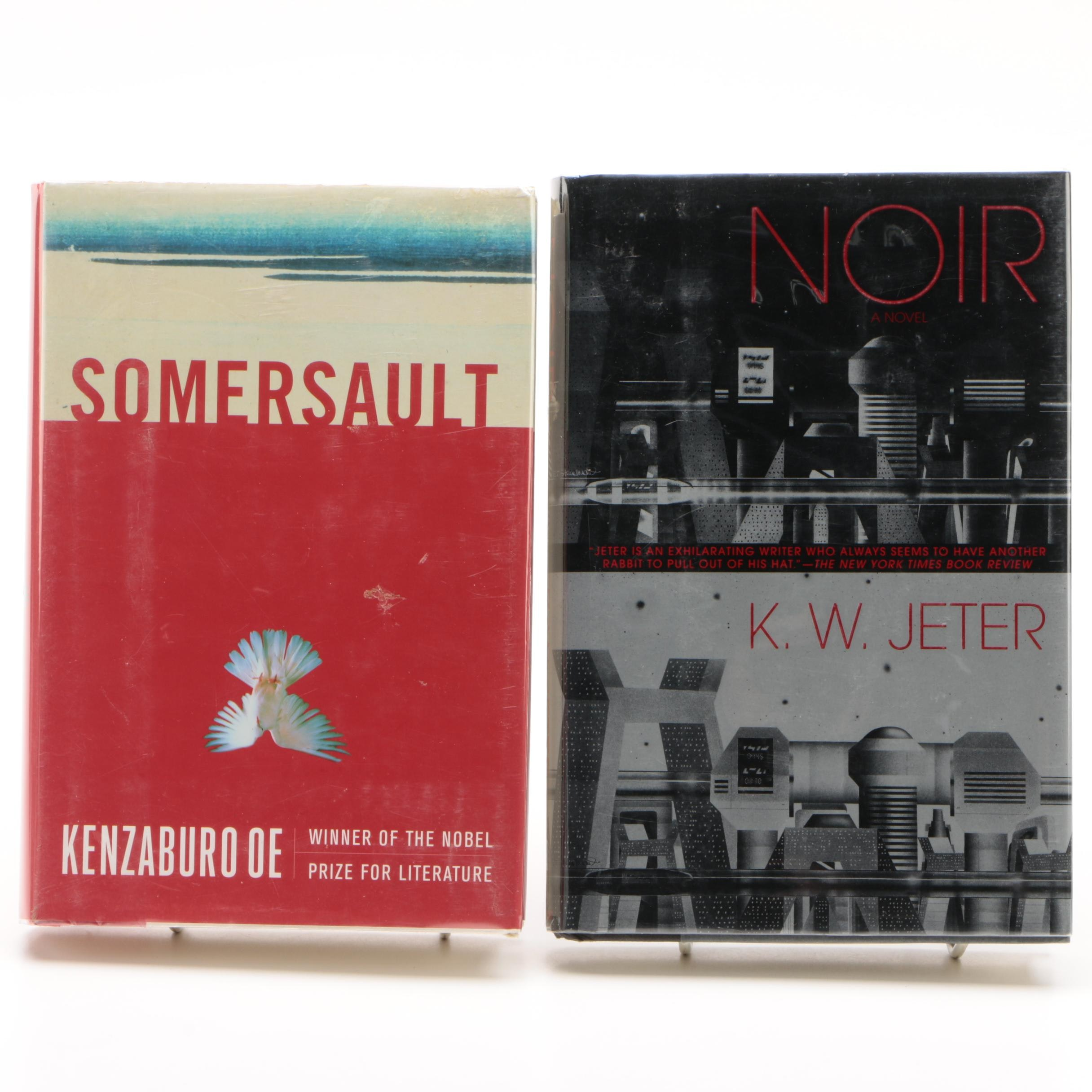 """Signed """"Noir"""" by K.W. Jeter with """"Somersault"""" by Kenzaburo Oe"""