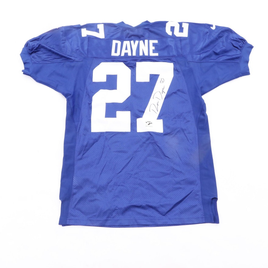 new product ac78d eb62b Ron Dayne Signed New York Giants Jersey COA