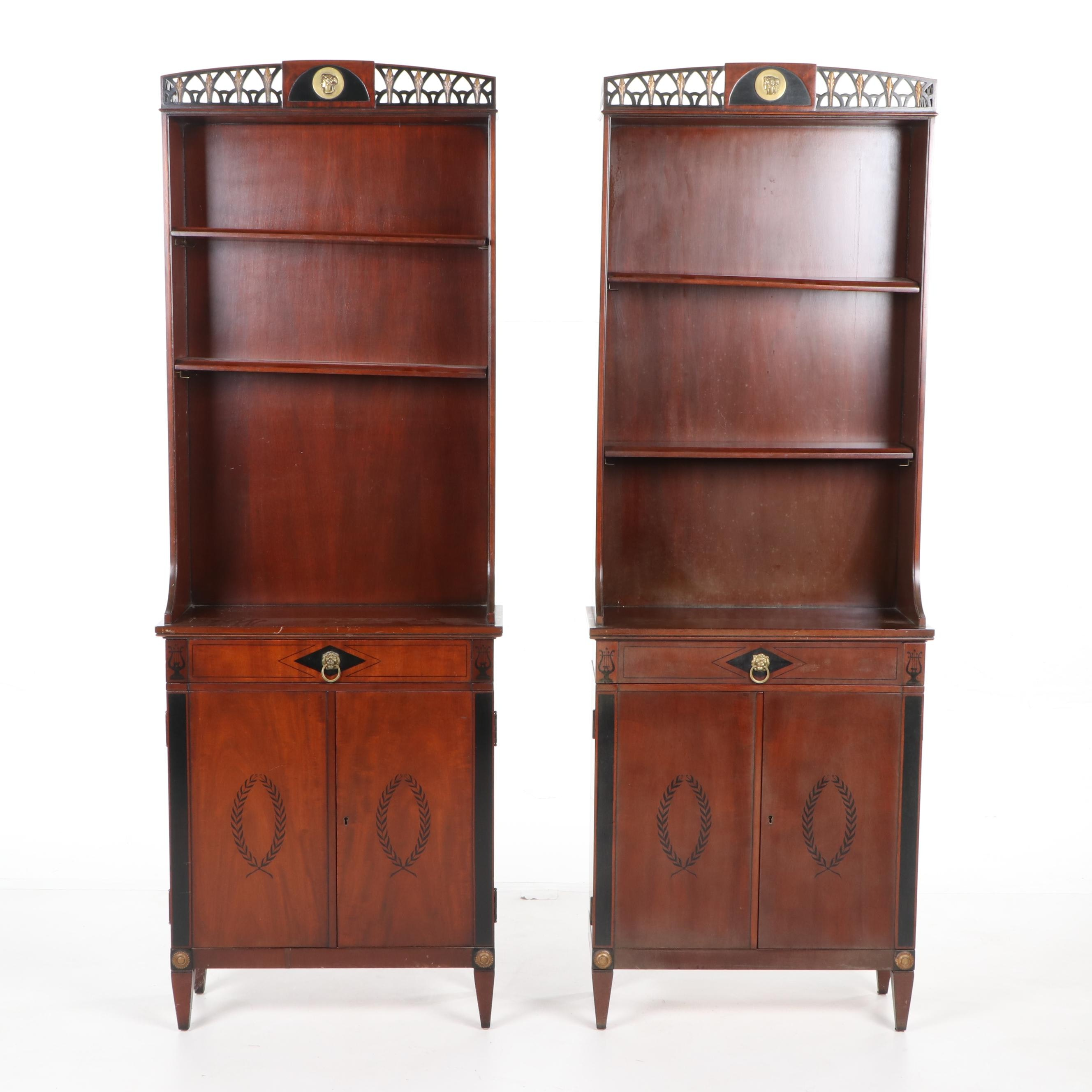 Neoclassical Style Mahogany Cabinets by Robert W. Irwin Co., Early 20th Century