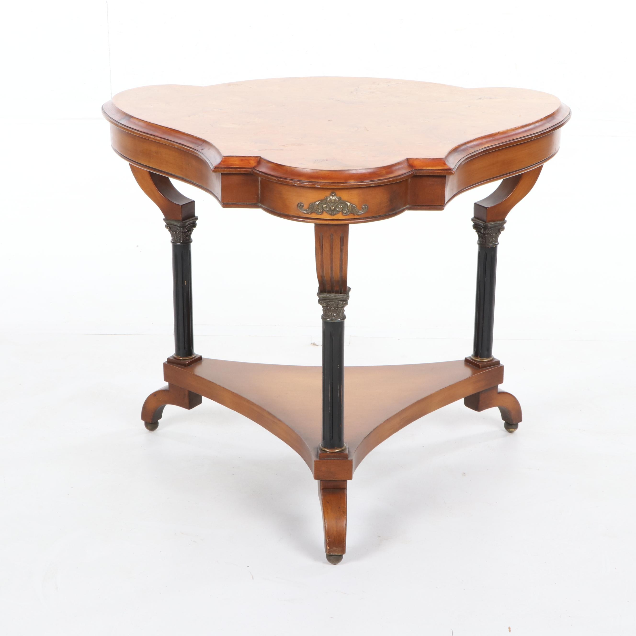 Regency Style Burl Wood Occasional Table, 21st Century