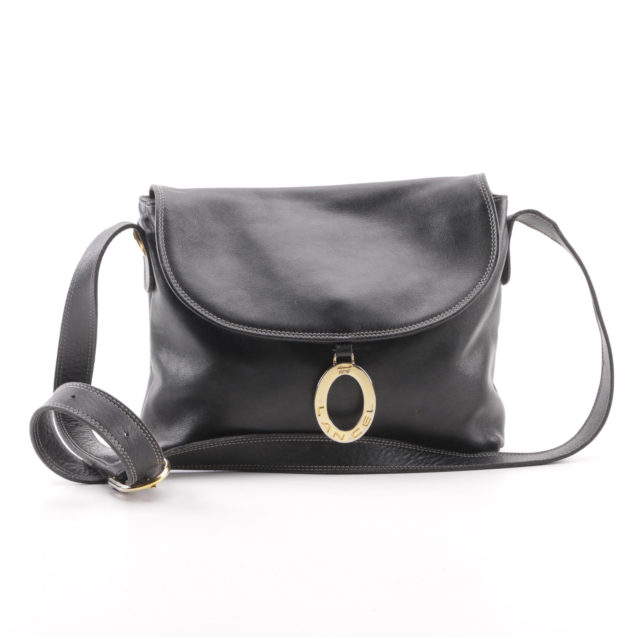 Lancel of Paris Black Leather Shoulder Bag