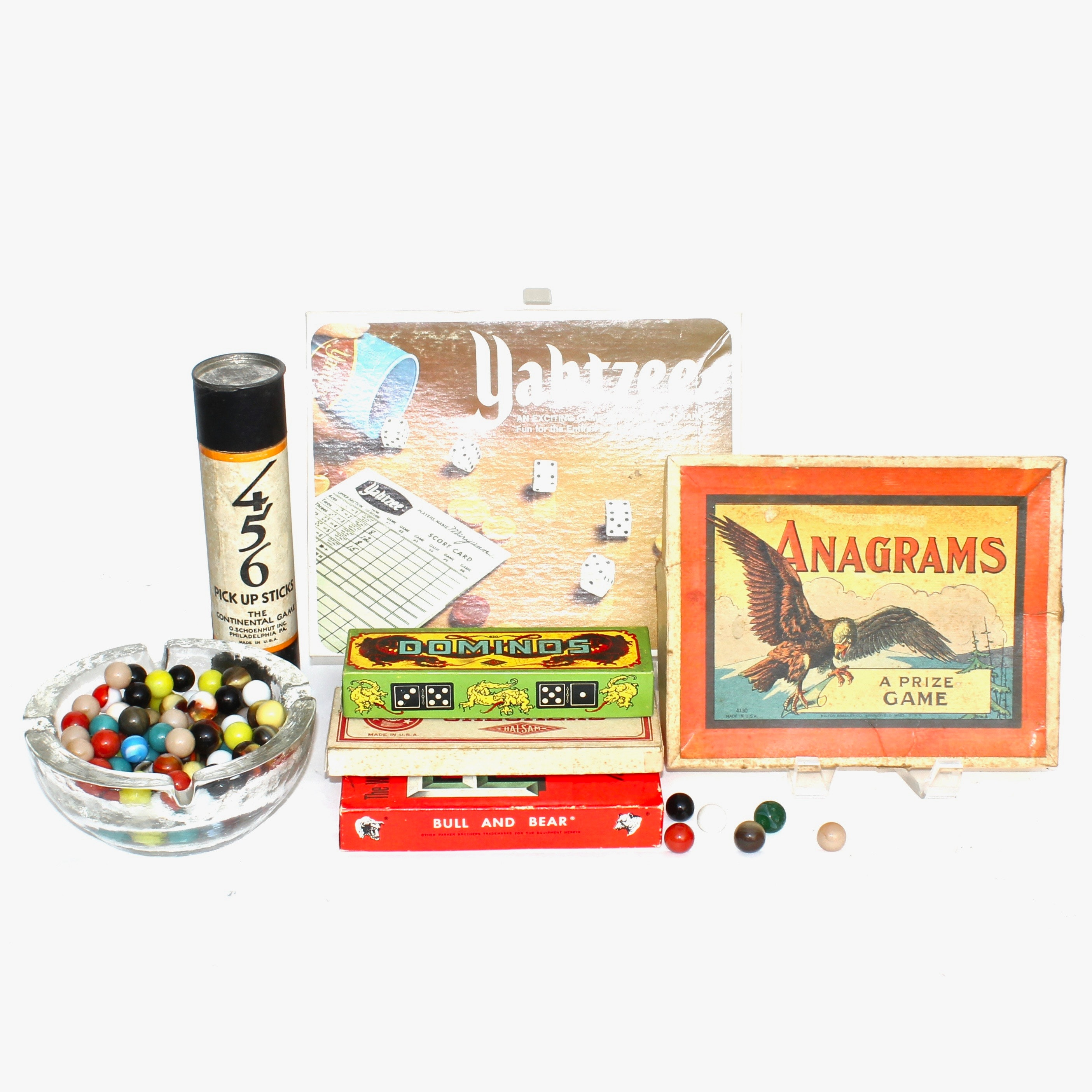 Vintage Games and Glass Marbles