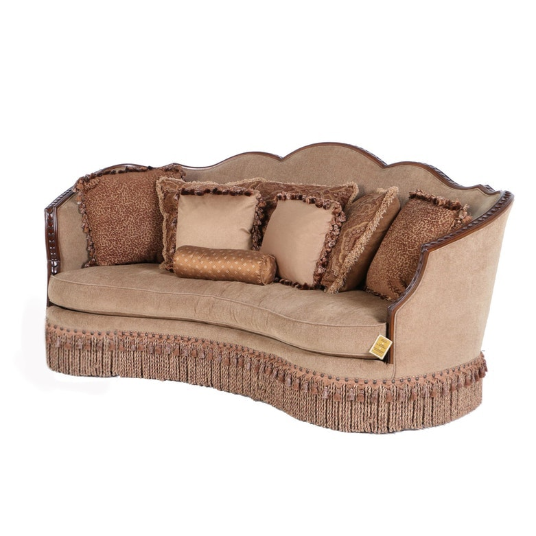 Contemporary Upholstered Sofa by Lacquer Craft for Legacy Classic Furniture