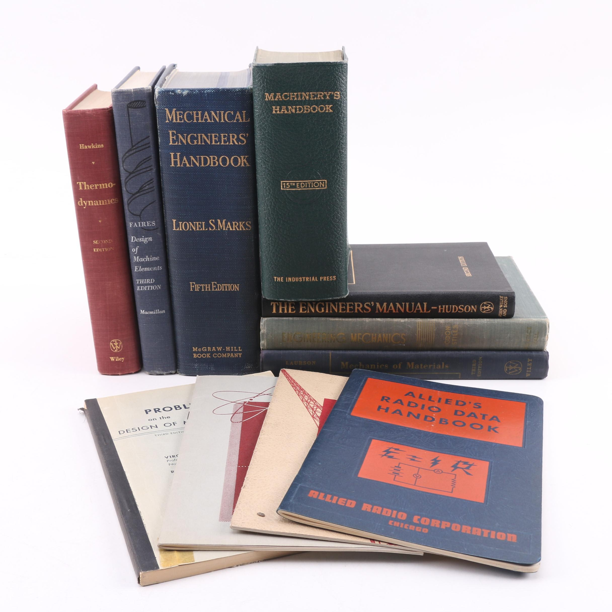 Vintage 1950s Engineering, Radio, and Mechanics Reference Books