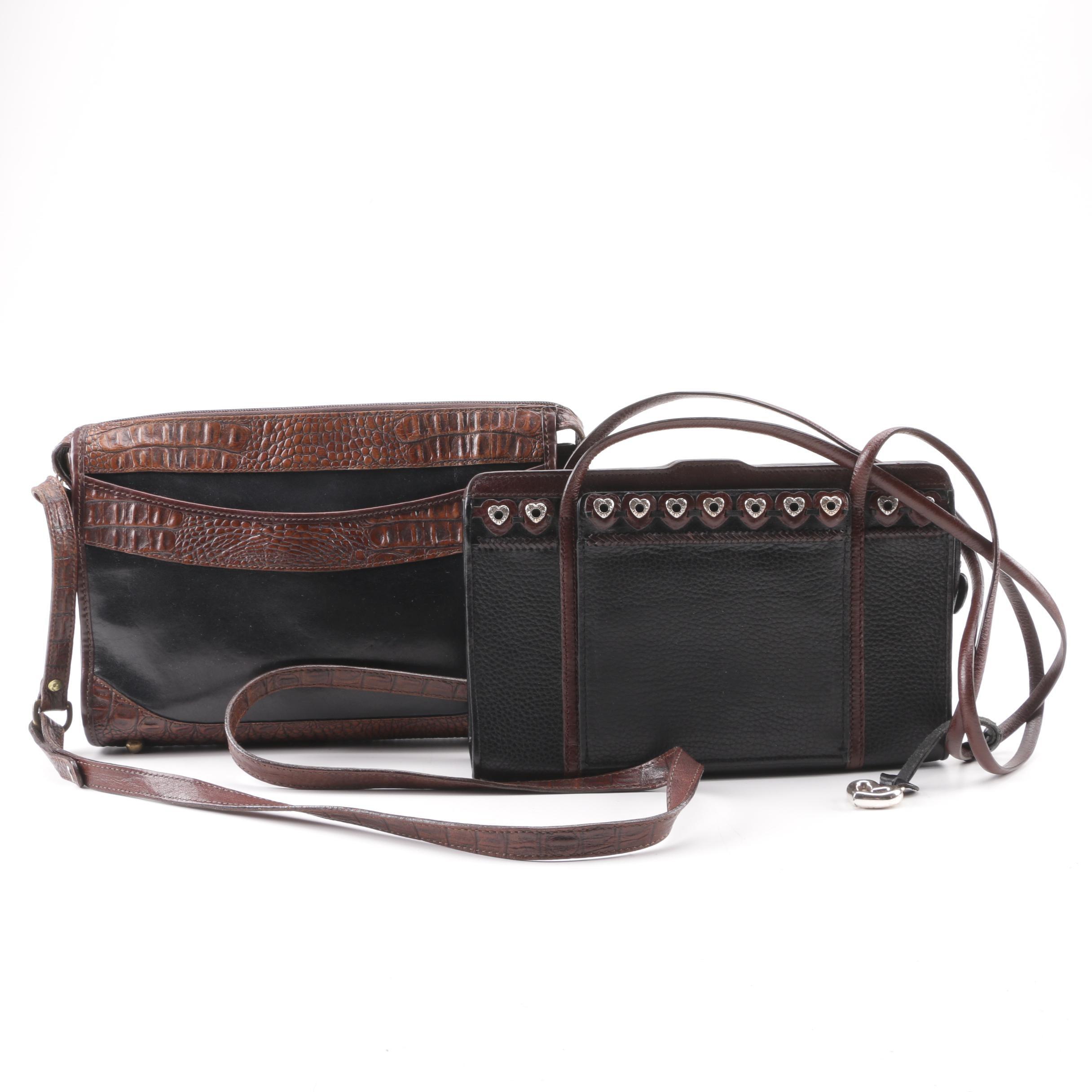 Brahmin and Brighton Black and Brown Leather Handbags
