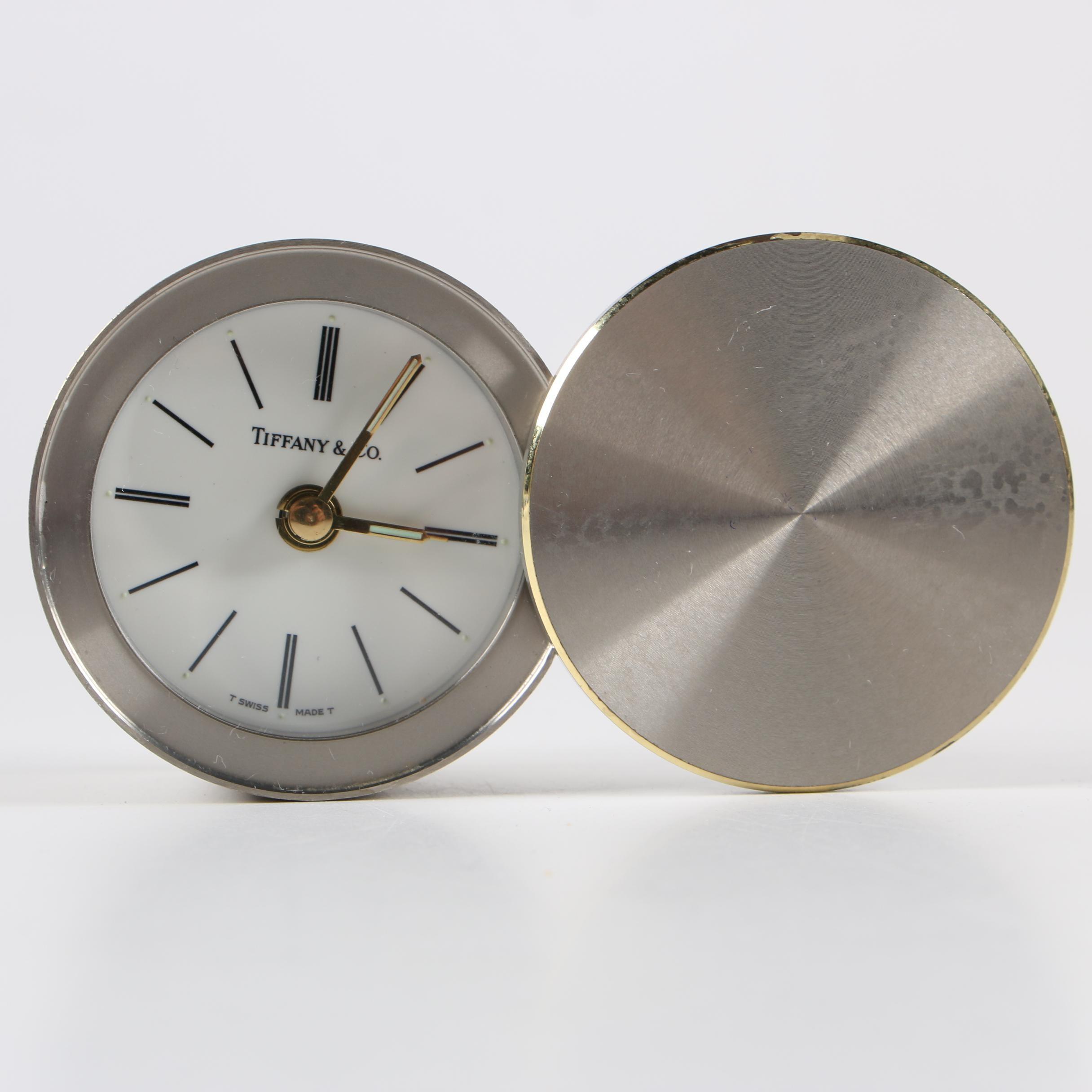 Tiffany & Co. Swiss Travel Alarm Clock