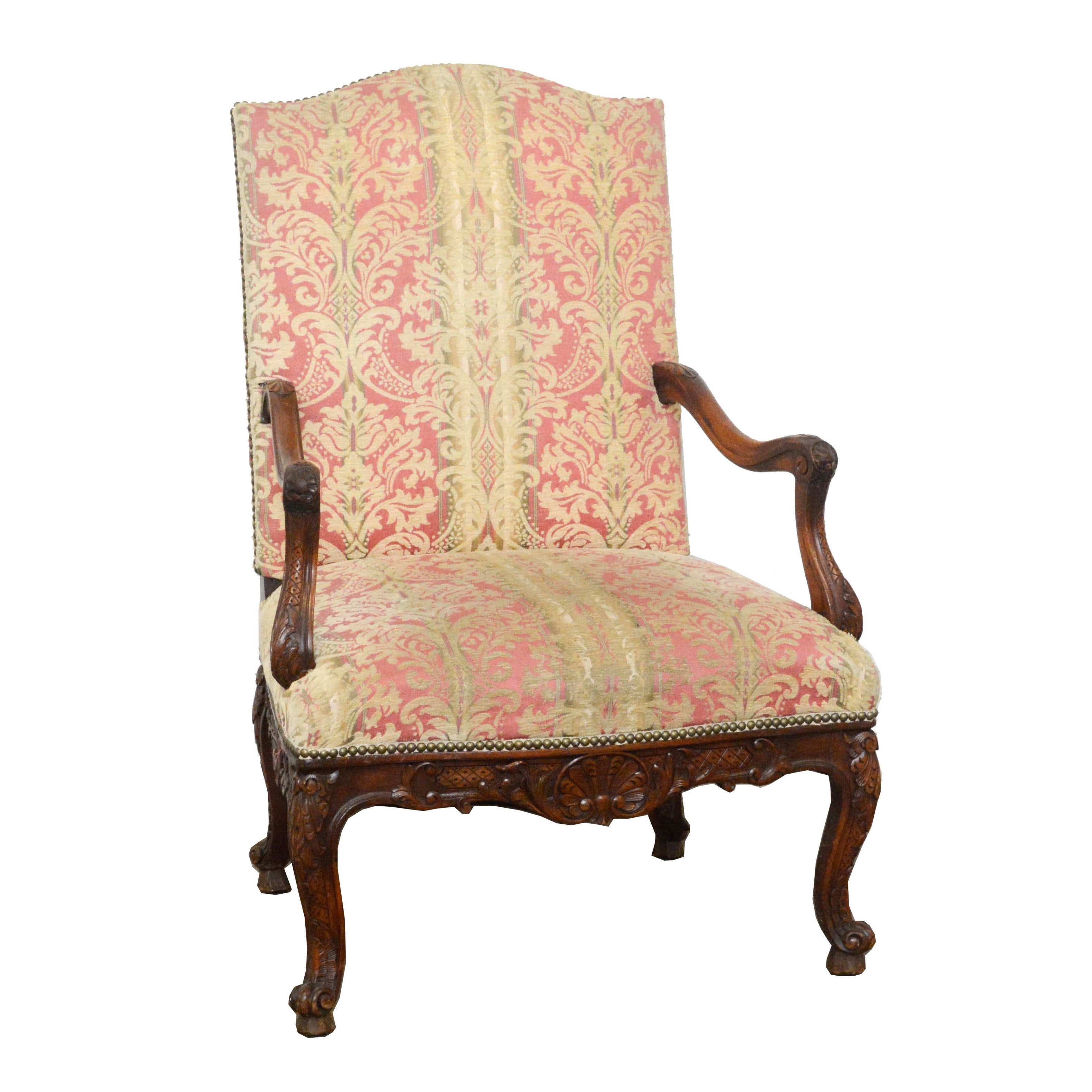 Louis XV Style Carved Wood Armchair, Mid/Late 20th Century ...