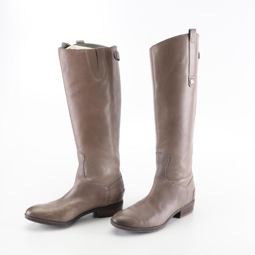 75701c8da Women s Sam Edelman Penny Taupe Leather Riding Boots   EBTH