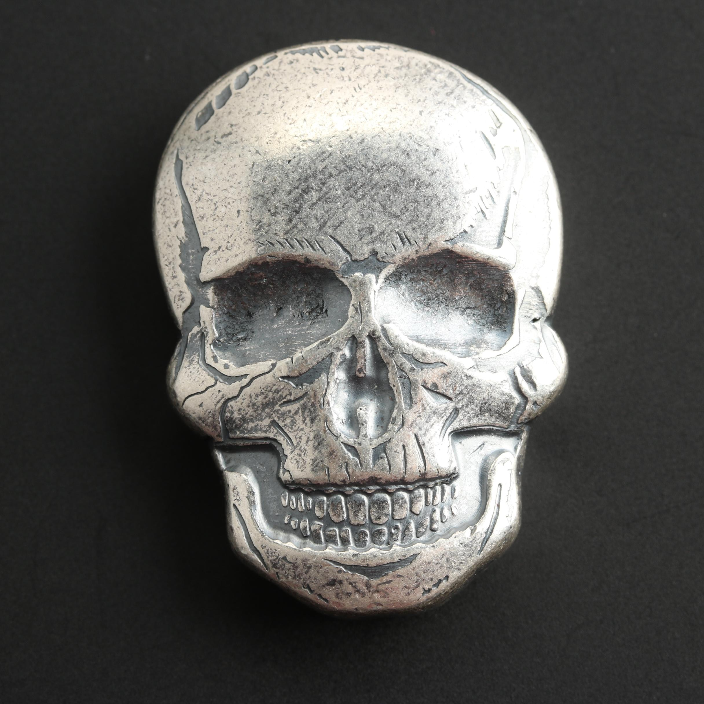 Two Troy Ounce Silver Skull