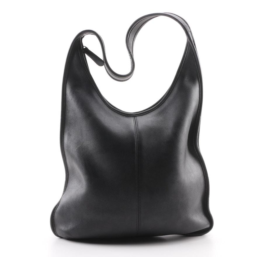 5b436d86fbec 1997 Vintage Coach Black Leather Hobo Bag   EBTH