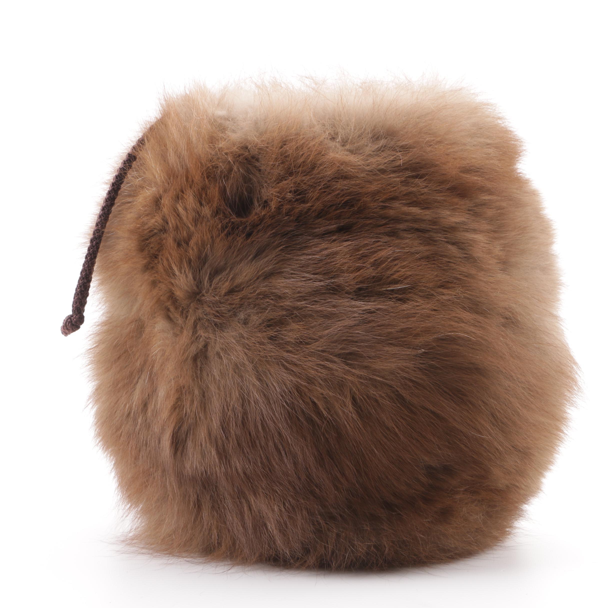 Vintage Marten Fur Muff Purse