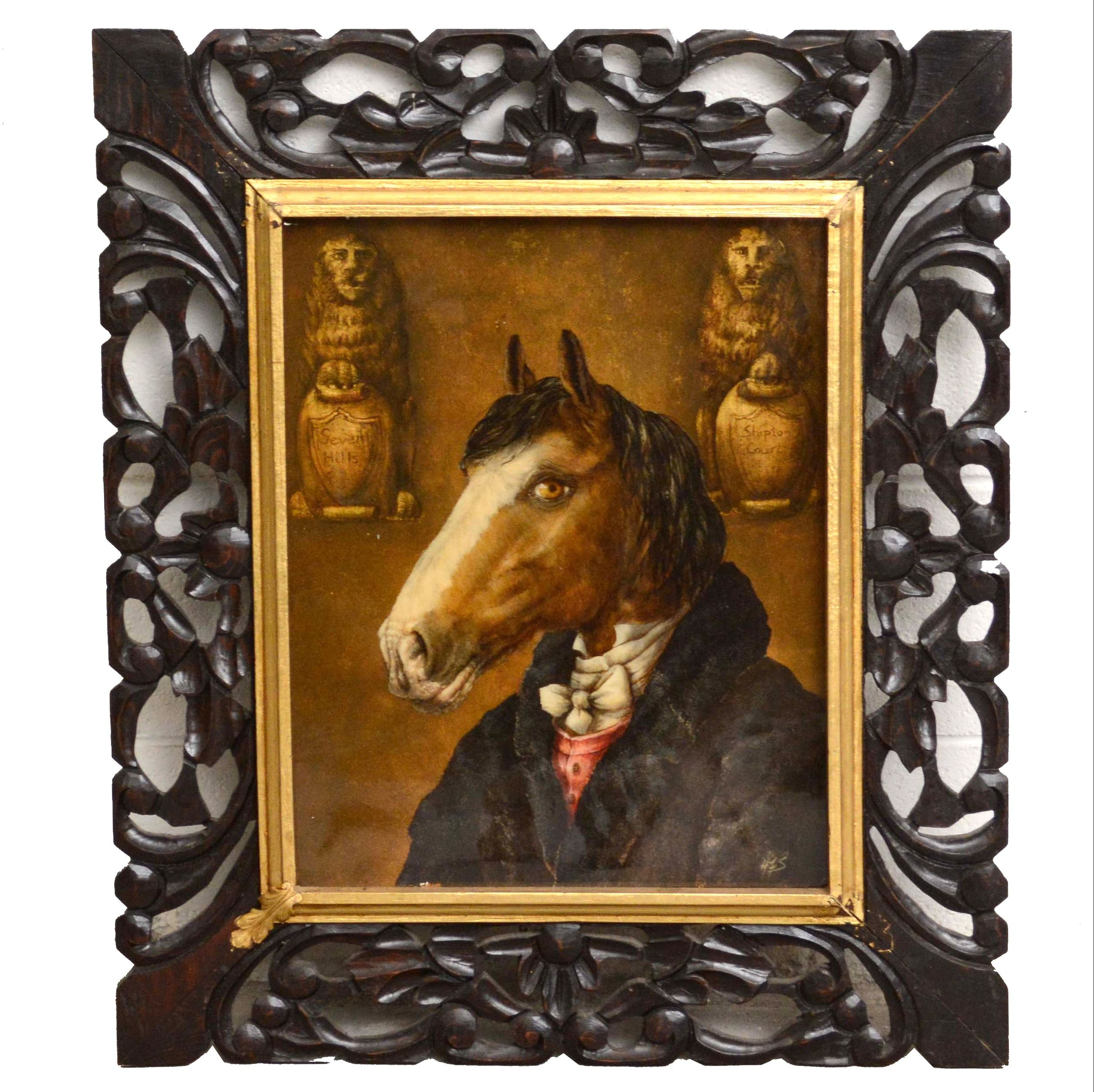 Anthropomorphic Horse Portrait Oil Painting
