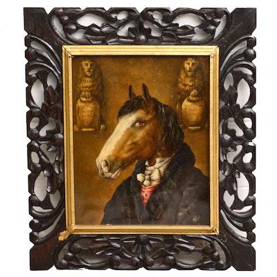 Anthropomorphic Horse Portrait Oil Painting