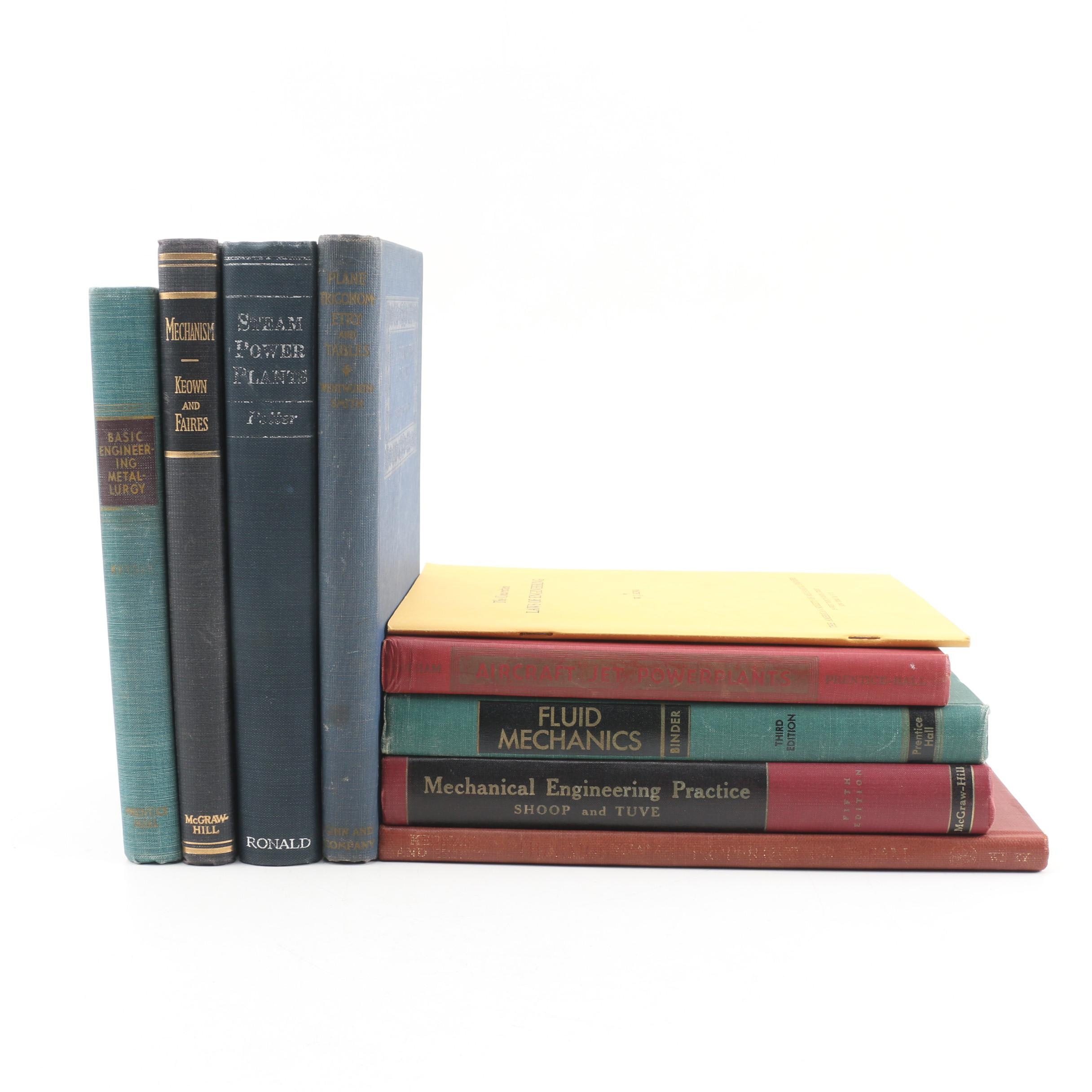 Vintage 1940s and 50s Reference Books featuring Engineering and Mechanics