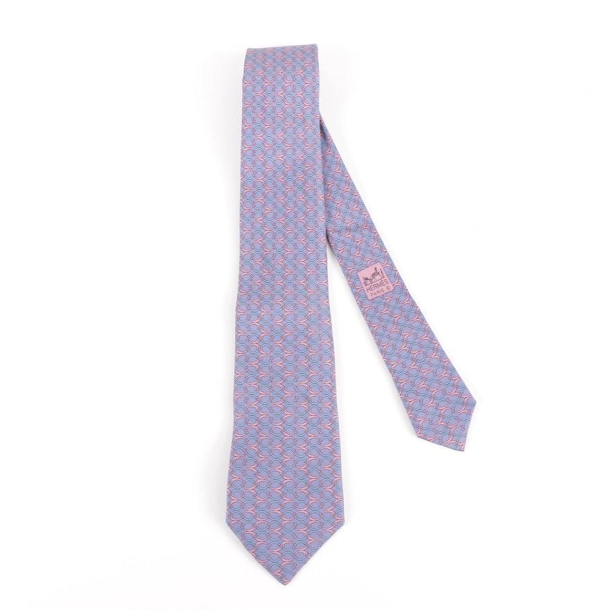 73ade51b1022 Vintage Hermès of Paris 7145 FA Silk Necktie | EBTH
