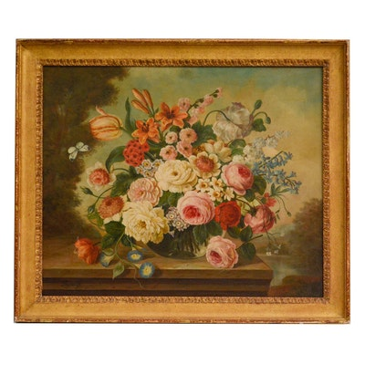 Oskar Robert Dogarth Floral Still Life Oil Painting