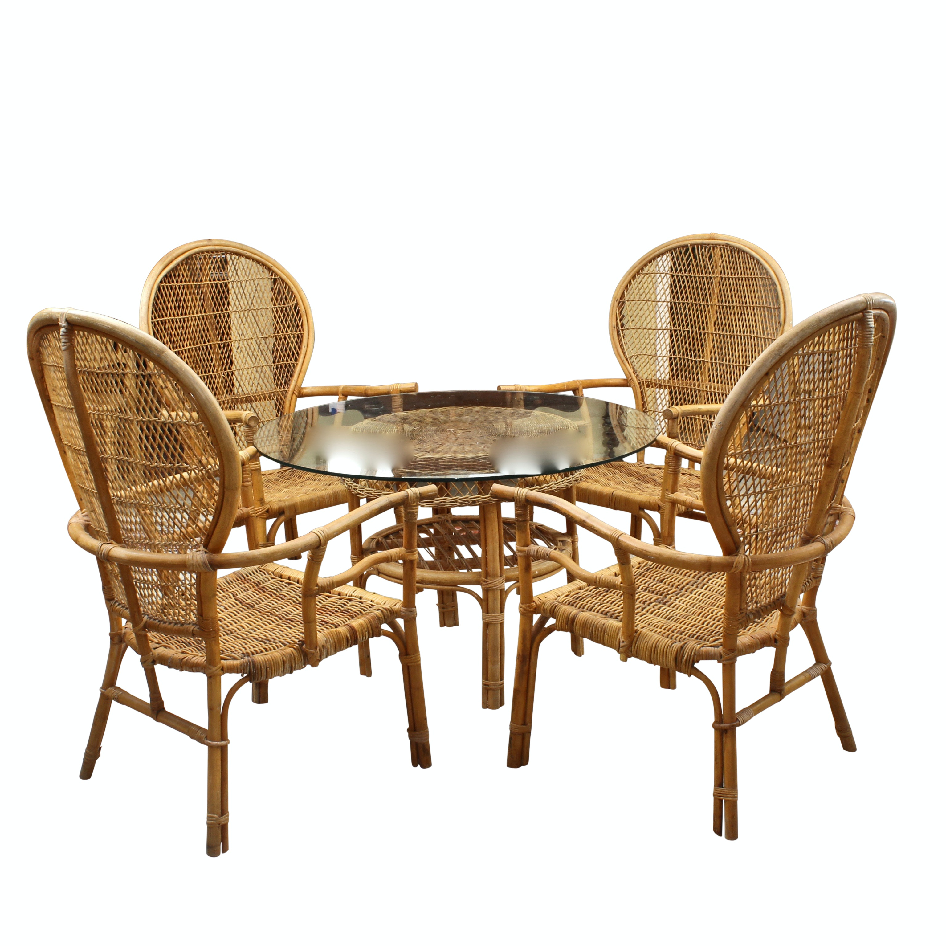 Mid-Century Fick's Reed Furniture Rattan Dining Set