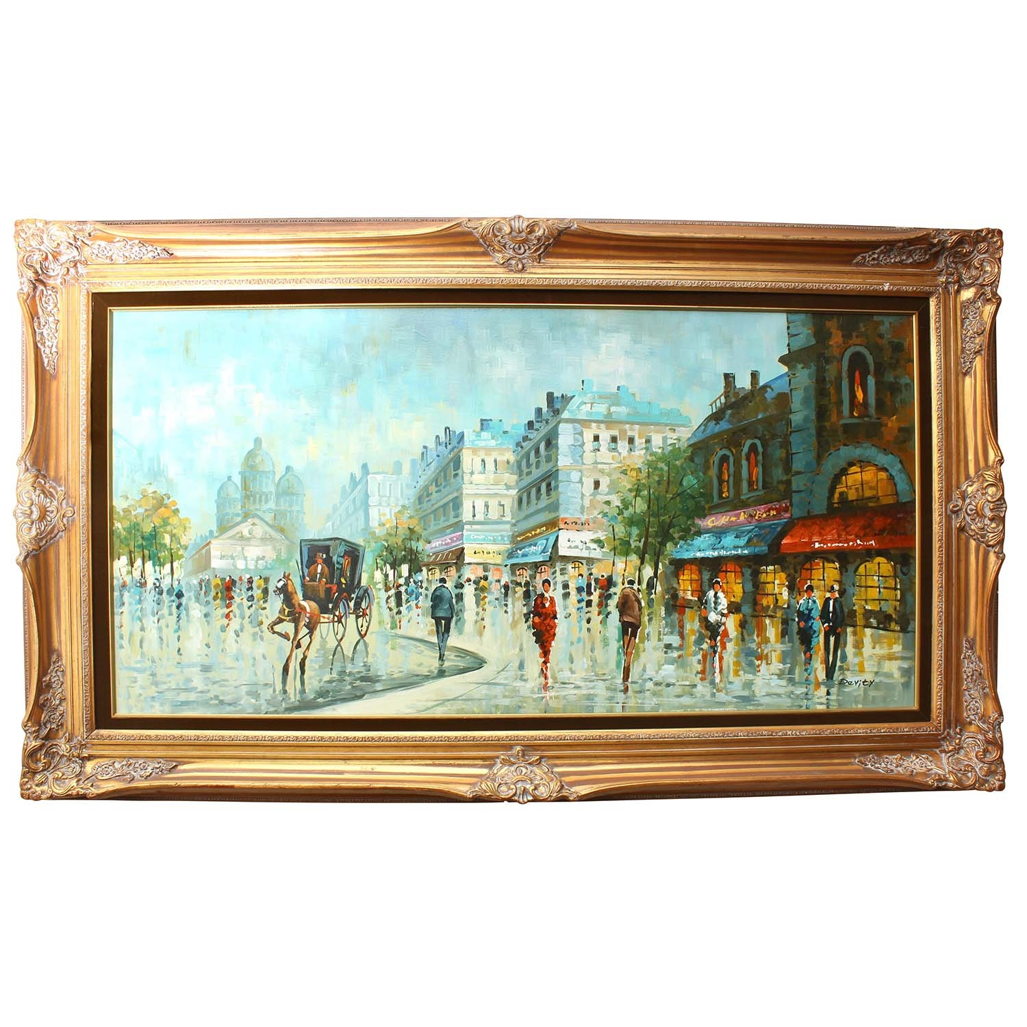 "Antonio Devity Oil Painting ""The Wet Streets of Paris"""
