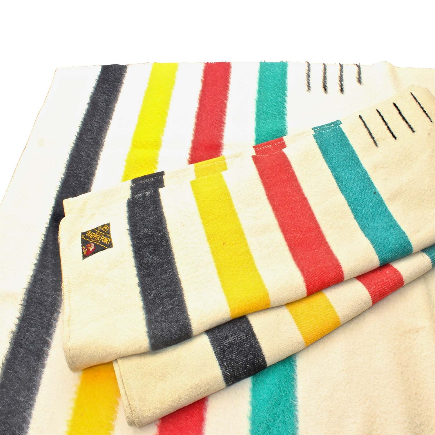 Two Trapper Point Wool Blankets by Hudson's Bay