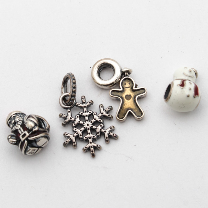 50212c8c5 Pandora Sterling Silver Holiday Themed Charms and Pendants : EBTH