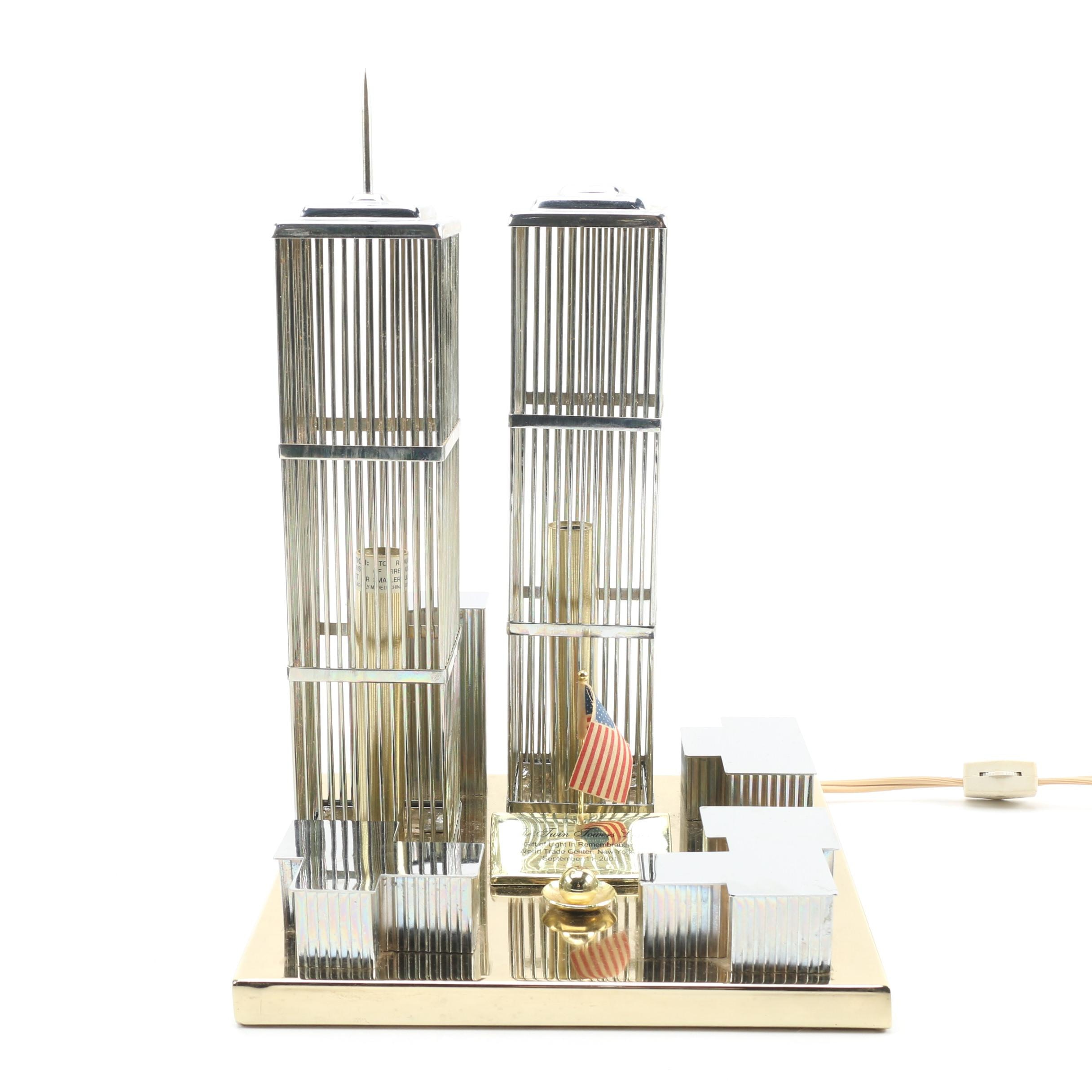 "Imena Azul ""The Twin Towers Light"" Illuminated Memorial"