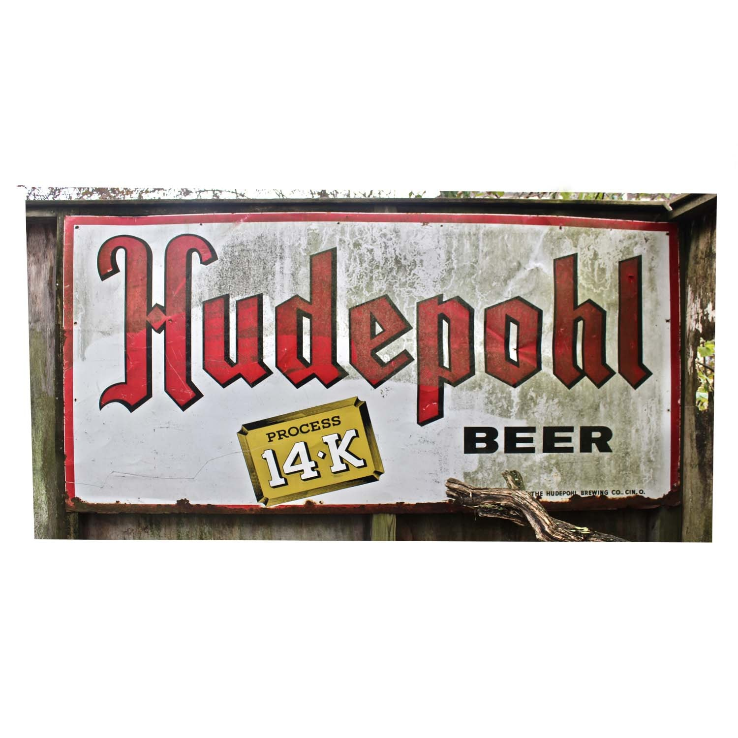 Vintage Hudepohl Tin Sign
